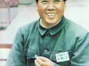 English: photo of Mao Zedong with a cap, published in
