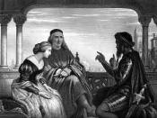 Othello Relating His Adventures - Steel engraving, approximately 7.5 x 10 inches