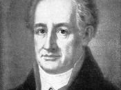 Goethe. Painting by Luise Seidler (Weimar 1811)
