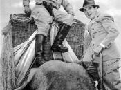John Ringling North (right) and Frank Buck, who was the circus' featured attraction in 1938