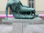 Stuttgart, Neue Staatsgalerie, Henry Moore: Die Liegende, 1961