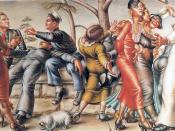 The Fleet's In!, painted by Paul Cadmus, 1934, the inspiration for the ballet, Fancy Free (1944)