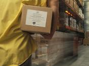 Albendazole being loaded in a warehouse