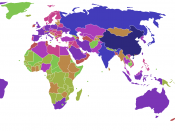 English: A colour version of previous map, ranking countries by carbon dioxide emissions in thousands of metric tonnes per annum, based on List of countries by carbon dioxide emissions as of March 2006.