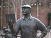 A statue of Ken Kesey in Eugene, Oregon