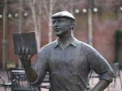 A statue of Ken Kesey in Eugene, Oregon