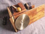 English: The trimba, Moondog percussion instrument