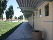 English: A close-up of File:Whitney High School Rocklin J Building Hallway.JPG, which shows a