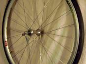 English: a Mavic CXP 14 700c Road bicycle wheel.