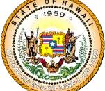 The Hawaii state seal.