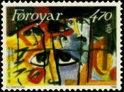 Amnesty International protects prisoners of conscience. Stamp from Faroe Islands, 1986.