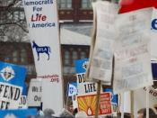 DFLA banner at the 2006 March for Life, courtesy of Democrats for Life of America.