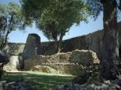 English: Inside of the Great Enclosure which is part of the Great Zimbabwe ruins.