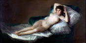La maja desnuda (circa 1797–1800), known in English as The Naked (or Nude) Maja by Francisco de Goya