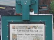 English: The Courier-Journal Dispenser