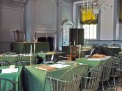 The Assembly Room in Philadelphia's Independence Hall, where the Second Continental Congress adopted the Declaration of Independence