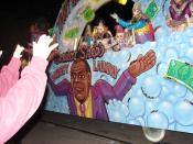 Float from Mardi Gras 2009 in New Orleans, lampooning the money laundering trial of Louisiana State Senator Derrick Shepherd.
