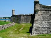 English: The north wall of the Castillo de San Marcos. Taken By Victor Patel