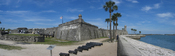Panorama of the Castillo de San Marcos fort in St. Augustine, Florida, USA. It was made with Hugin by merging four pictures.