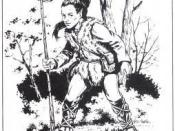 Illustration of a Kender from Advanced Dungeons & Dragons Monstrous Compendium Vol. 4: Dragonlance, art by Mark Nelson (1990)