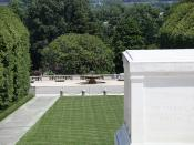 Looking east past Tomb of the Unknown Soldier at the Memorial Amphitheater plaza and overlook - Arlington National Cemetery - 2012-05-19