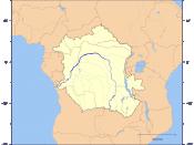 English: Course and Watershed of the Congo and Lualaba River with political boundaries. Deutsch: Verlauf und Einzugsgebiet von Kongo und Lualaba mit Staatsgrenzen.