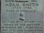 Plaque commemorating the house in which Adam Smith wrote The Wealth Of Nations