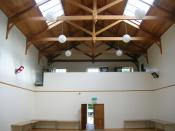 English: Eglinton Racquet Hall, Ayrshire, Scotland. Oldest Racquet court in the World and oldest covered sports hall in Scotland.