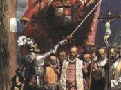 Pizarro and his followers in Lima in 1535
