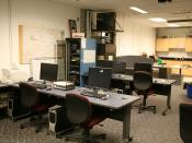 English: An image of the Mission Control Center at the Space Systems and Controls Lab at Iowa State University
