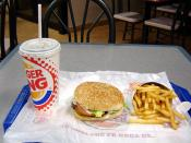 A Hamburger, fries, and a coke from a fast-food restaurant.