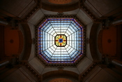 Looking up at the Dome of the Indiana State Capitol, Indianapolis