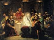 Théodore Chassériau (1819–1856), Macbeth seeing the Ghost of Banquo, 1854