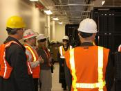 Tour of Network Room at DMA