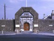 English: Dartmoor Prison front door Impressive stonework built in 1809. Their web site says: