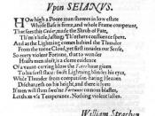 English: This is a prefatory poem written by William Strachey that was published in the first edition of Jonson's Sejanus