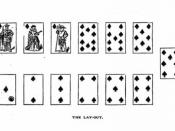 the layout of the 19th century card game