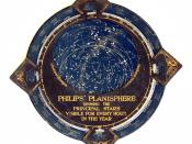 English: Revolving star chart (Planisphere) published by George Philip & Son, Ltd., London, around 1900. Deutsch: Drehbare Sternkarte (Planisphäre) herausgegeben von George Philip & Son, Ltd., London um 1900.