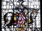 English: Stained glass in Throne Room of Alcázar of Segovia. It depicts King Henry IV of Castile. Located in Segovia, Spain. Français : Vitrail situé dans la Salle du Trône de l'Alcazar de Ségovie. Il représente le roi Henri IV de Castille. Situé à Ségovi