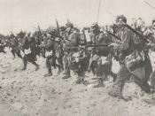 French infantry bayonet charge during the First World War. These are for the Lebel rifle.