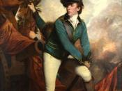 The British Lt. Col. Banastre Tarleton. Painting by Sir Joshua Reynolds, 1782.