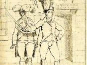 Tarleton as Captain Bobadill in Ben Jonson's Every Man in his Humour (1782).jpg