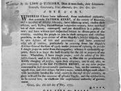English: Broadside discussing role of Patrick Henry and his followers as insurgents to British rule in Virginia. The Library of Congress, Washington, D.C. http://memory.loc.gov/cgi-bin/query/r?ammem/rbpe:@field(DOCID+@lit(rbpe17801500))
