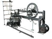 The introduction of the Spinning Mule into cotton production processes helped to drastically increase industry consumption of cotton. This example is the only one in existence made by the inventor Samuel Crompton. It can be found in the collection of Bolt