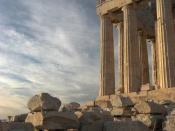 Picture of Parthenon I took in late afternoon. Français : Le Parthénon en fin d'après-midi. Tiếng Việt: Hình chụp Parthenon lúc hoàng hôn. For more translations SEE BELOW
