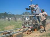 Crew members filming The Alamo (2004)