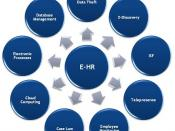English: Diagram representing the different aspects of E-HR