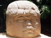 Monument 1, one of the four colossal Olmec heads at La Venta. This one is nearly metres (0 ft) tall.