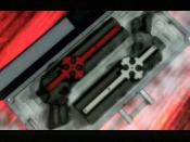 An early promotional picture of Grave's guns, the Cerberus.