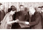 His wife Sirimavo Bandaranaike created history by becoming the world's first woman Prime Minister.